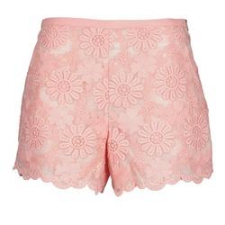 Clothing Women Shorts / Bermudas Manoush AFRICAN SHORT Coral