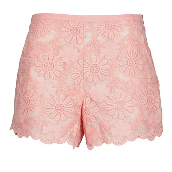 Clothing Women Shorts / Bermudas Manoush AFRICAN SHORT Coral