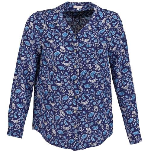 Clothing Women Shirts Manoush BANDANA SILK Blue