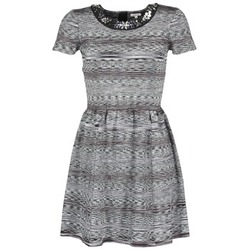 Clothing Women Short Dresses Manoush BIJOU ROBE Black / Grey