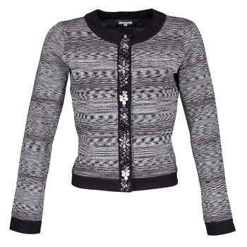 Clothing Women Jackets / Blazers Manoush BIJOU VESTE Black / Grey