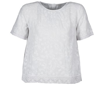 Clothing Women short-sleeved t-shirts Manoush COTONNADE SMOCKEE White