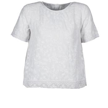 Clothing Women Short-sleeved t-shirts Manoush COTONNADE SMOCKEE White