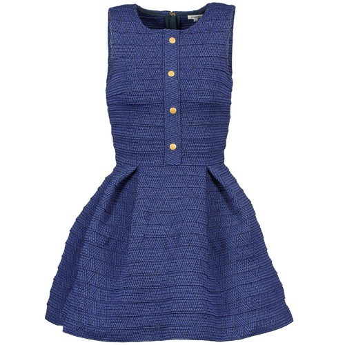 Clothing Women Short Dresses Manoush ELASTIC Blue