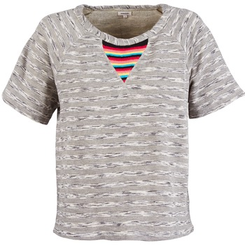 Clothing Women short-sleeved t-shirts Manoush ETNIC SWEAT Grey