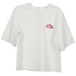 Clothing Women Tops / Blouses Manoush FLOWER BADGE White