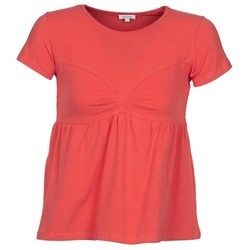 Clothing Women short-sleeved t-shirts Manoush MOLLETON CORAL
