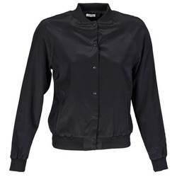 Clothing Women Jackets / Blazers Manoush TEDDY FLEUR SIATIQUE Black