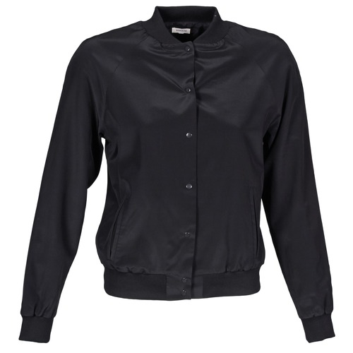 Clothing Women Jackets / Blazers Manoush TEDDY FLEUR SIATIQUE Black