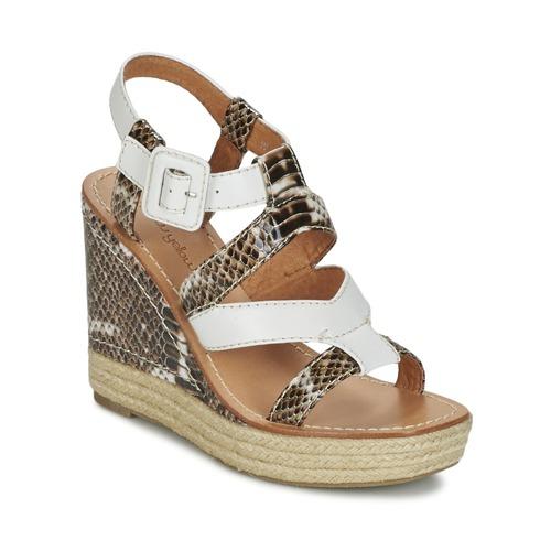 Shoes Women Sandals Mellow Yellow VANAIS White / Brown