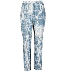 Clothing Women Wide leg / Harem trousers Vila GRUNGE ME Blue / White