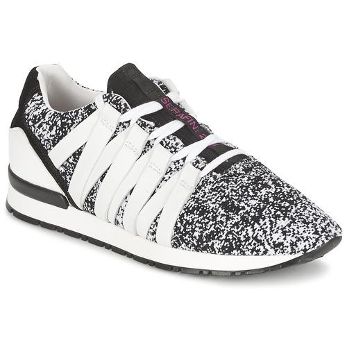 Shoes Women Low top trainers Serafini MIAMI Black / White