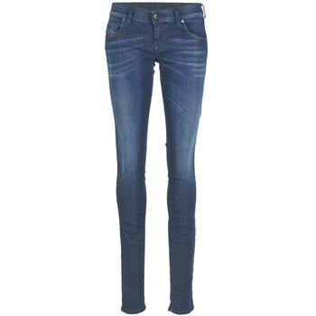 Clothing Women slim jeans Diesel GRUPEE Blue