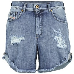 Clothing Women Shorts / Bermudas Diesel DE SCOTT Blue