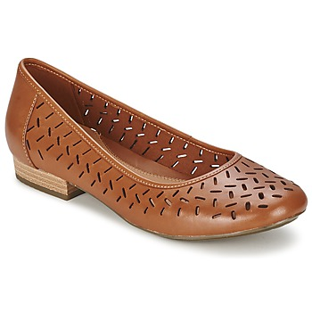 Shoes Women Flat shoes Clarks HENDERSON SILK Dark Tan