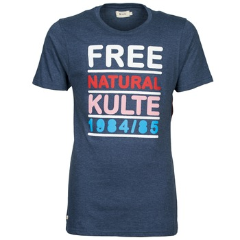 Clothing Men short-sleeved t-shirts Kulte AUGUSTE FREE Blue