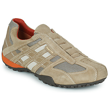 Shoes Men Low top trainers Geox SNAKE BEIGE / DK / Orange