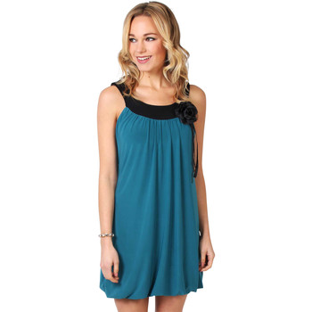 Clothing Women Short Dresses Krisp Boho Puffball Tunic Dress Gypsy Flower {Teal} Green