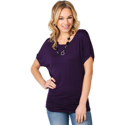 Clothing Women Tunics Krisp Oversized Zip Front Tunic {Purple} Purple