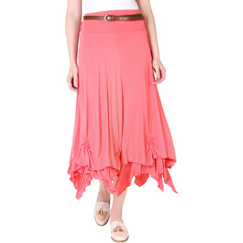 Clothing Women Skirts Krisp Hitched Up Belted Maxi Skirt {Coral} Pink