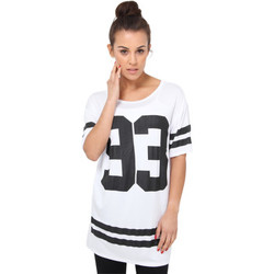 Clothing Women short-sleeved t-shirts Krisp 93' Print Baseball T-shirt {White} White