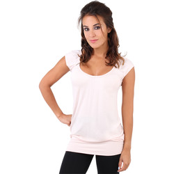 Clothing Women Tops / Sleeveless T-shirts Krisp Long Line Summer Casual Top{Nude} Pink