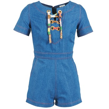 Clothing Women Jumpsuits / Dungarees Manoush LACET Blue / JEAN