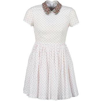 Clothing Women Short Dresses Manoush PLUMETIS STRASS White / Red