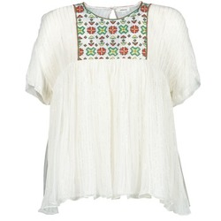 Clothing Women Tops / Blouses Manoush POINT DE CROIX Ecru