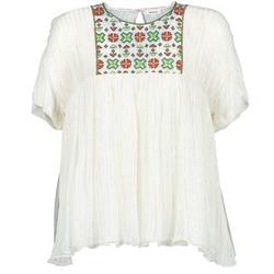 Clothing Women Tops / Blouses Manoush POINT DE CROIX Ecru