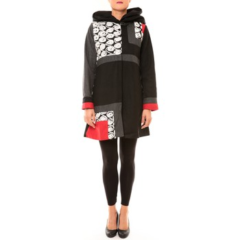 Clothing Women Coats Bamboo's Fashion Manteau BW670 noir Black
