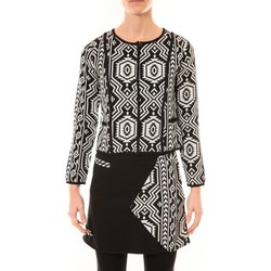 Clothing Women Jackets / Blazers Bamboo's Fashion Veste Chiner BW682 noir et blanc Black