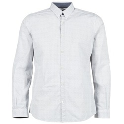 Clothing Men long-sleeved shirts Tom Tailor MARCHALO White / Marine