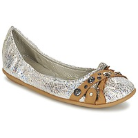 Shoes Women Flat shoes Regard SOLI Silver / Beige