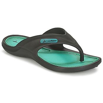 Shoes Children Flip flops Rider CAPE VII Black / Green