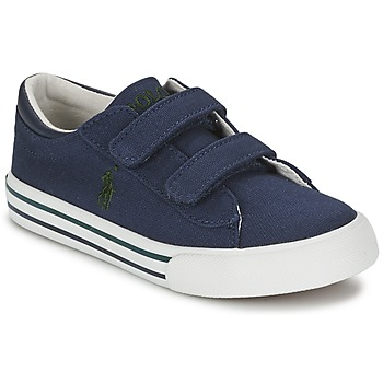 Shoes Children Low top trainers Ralph Lauren HARRISON EZ NAVY / GREEN