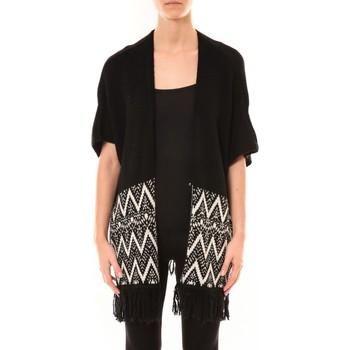 Clothing Women Jackets / Cardigans De Fil En Aiguille Gilet Mélodie Noir Black