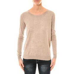 Clothing Women jumpers Nina Rocca Pull MC7033 taupe Brown