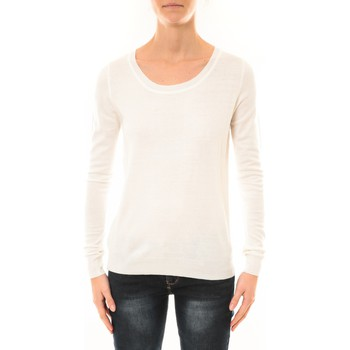 Clothing Women jumpers Nina Rocca Pull MC7033 blanc White