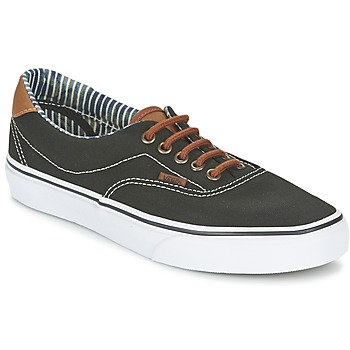 Shoes Low top trainers Vans ERA 59 Black / Stripes / Denim