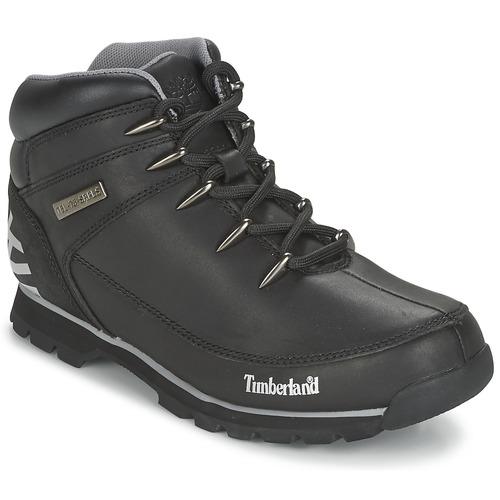 Shoes Men Mid boots Timberland EURO SPRINT HIKER Black / Reflechissant
