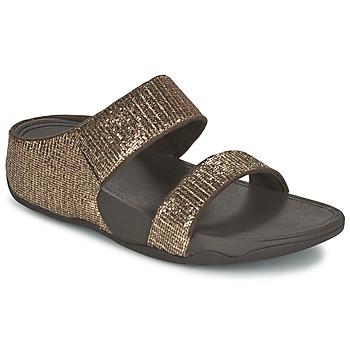 Shoes Women Mules FitFlop LULU SUPERGLITZ SLIDE Bronze