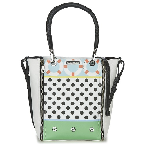 Bags Women Small shoulder bags Barbara Rihl CO IN BALI ZIPPER MED White / Multicoloured