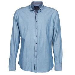 Clothing Men long-sleeved shirts Hackett RILEY Blue