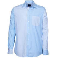 Clothing Men Long-sleeved shirts Hackett GORDON Blue
