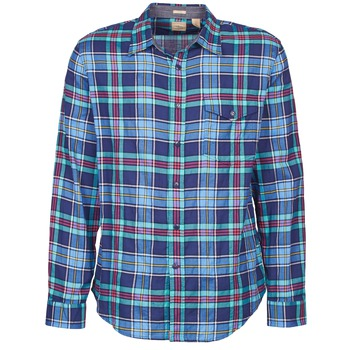 Clothing Men long-sleeved shirts Dockers THE TWILL WRINKLE SHIRT Blue