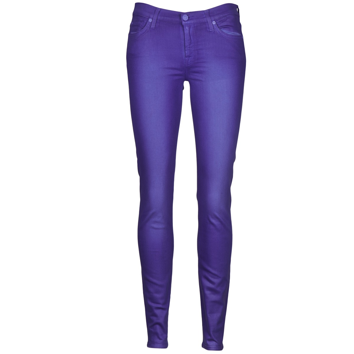 7 for all mankind  the skinny vine leaf  women's skinny jeans in purple