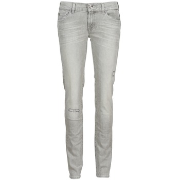 Clothing Women slim jeans 7 for all Mankind ROXANNE DESTROYED Grey