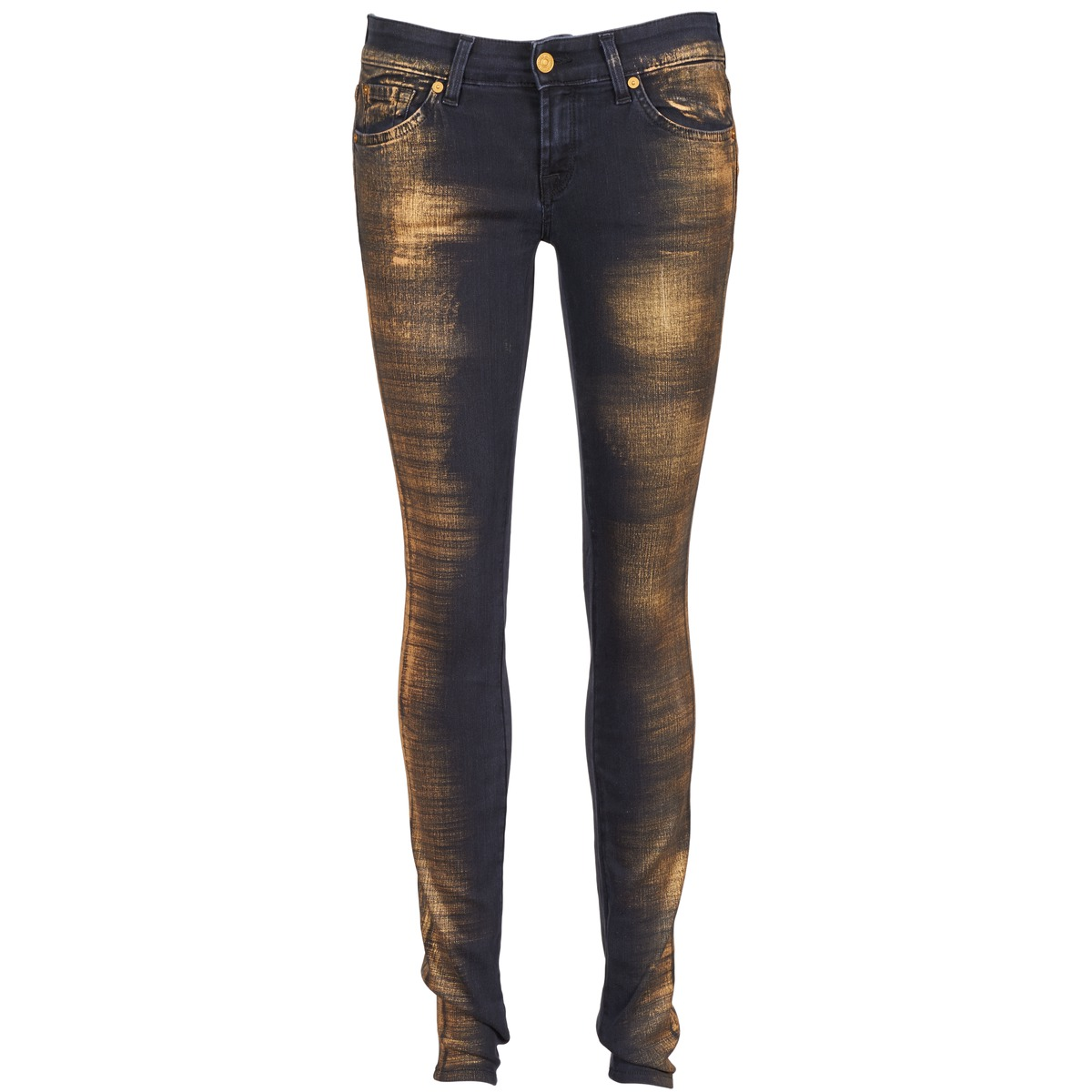 7 for all mankind  olivya  women's skinny jeans in blue