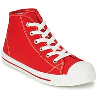 Shoes Men Hi top trainers Yurban WAXI Red